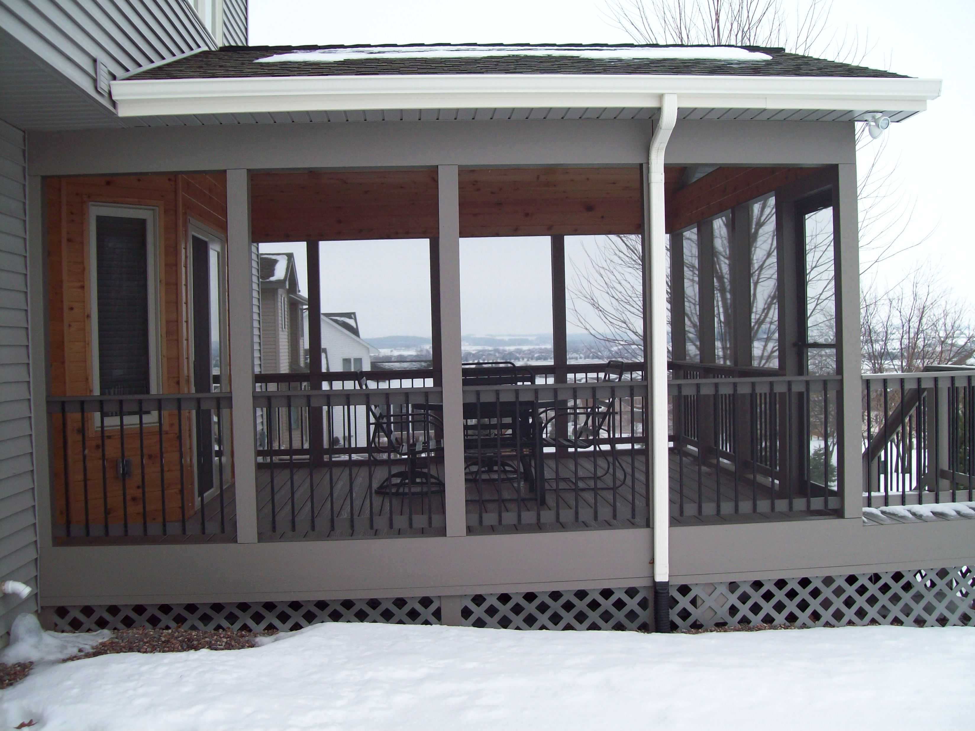screened a in dsc timber how porch to screen framed