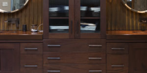 espresso cabinet with double sink